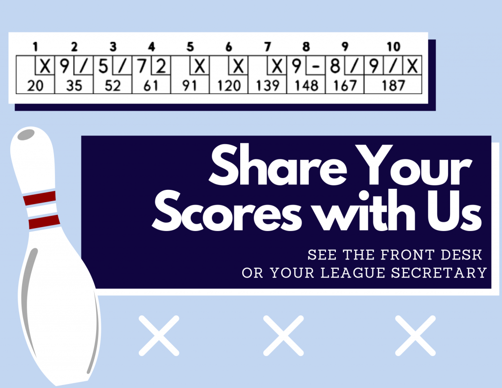 Share your League Score with us